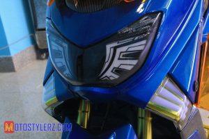 Modifikasi Yamaha NMax : Headlamp-Sporty With HID Projector