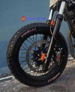 Modifikasi Honda Tiger : Kaki Dpn-Dimachoin Sok Byson