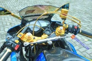 Modifikasi Yamaha R25 : Stang (Mewah Bareng Aseso Gold)