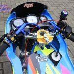 modifikasi motor kawasaki ninja 150R 2000 Bekasi : Area Stang-Nangkring Stablizer Ohlins
