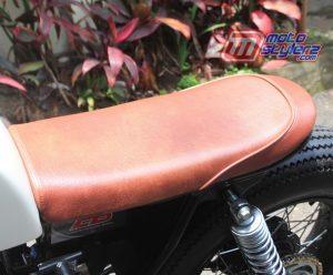 Gambar Modifikasi Motor Yamaha Scorpio 2005 Bandung : Custom Seat-Bermaterial Kulit