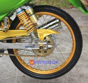 Modifikasi Yamaha Vega R : Roda Blk-Dikawal Sok NTC