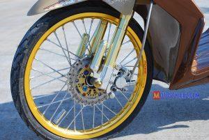 Modifikasi Honda Beat 2009 Bekasi : Roda Dpn-Dilengkapi Ciet Variasi