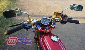 modifikasi motor jadul honda 125 Indramayu : Kemudi-Dibekali Asesoris