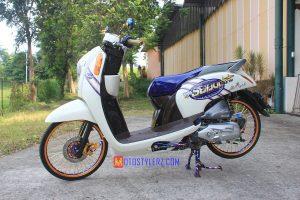 Modifikasi motor Honda Scoopy 2016 Sukabumi tema Thailook Style