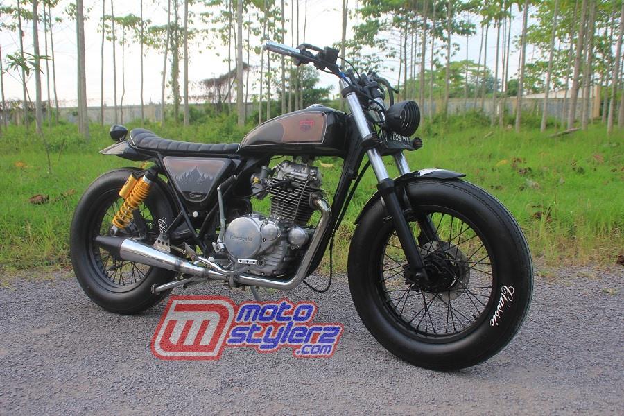 Modifikasi Motor Kawasaki Binter 1983 Cirebon : Modifikasi KZ200-Macho Tracker