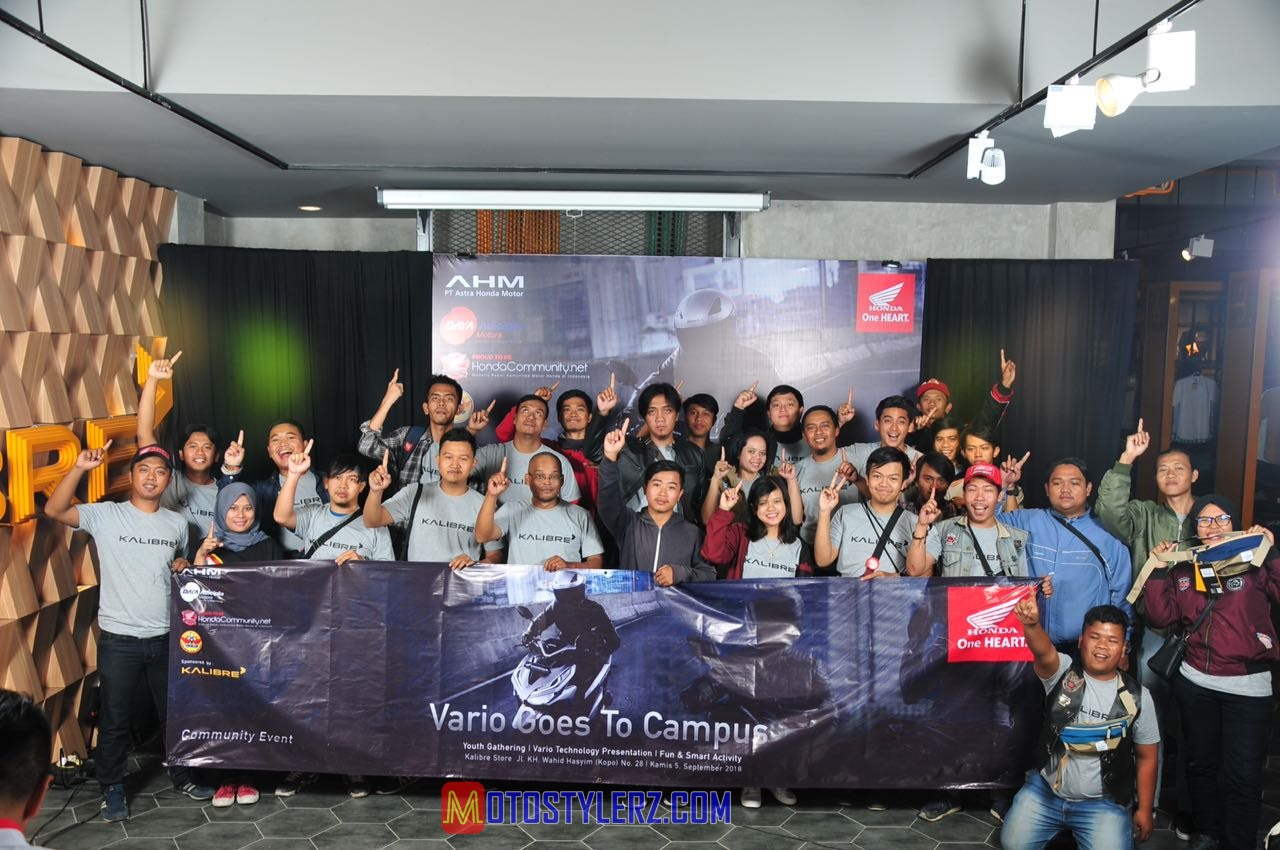 Vario Goes To Campus-Diikuti Mahasiswa & Bikers Honda
