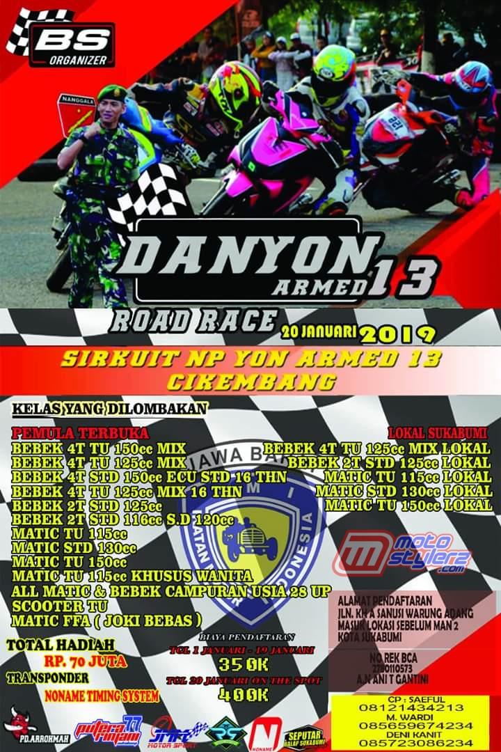 Preview Danyon Armed 13 Road Race Championship 2019 (Sukabumi): Berlangsung Hari Minggu, Siap Manjakan Rider Tuan Rumah
