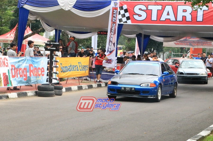 Drag Race South Sumatera Millennial Road Safety Festival-Diikuti 265 Stater
