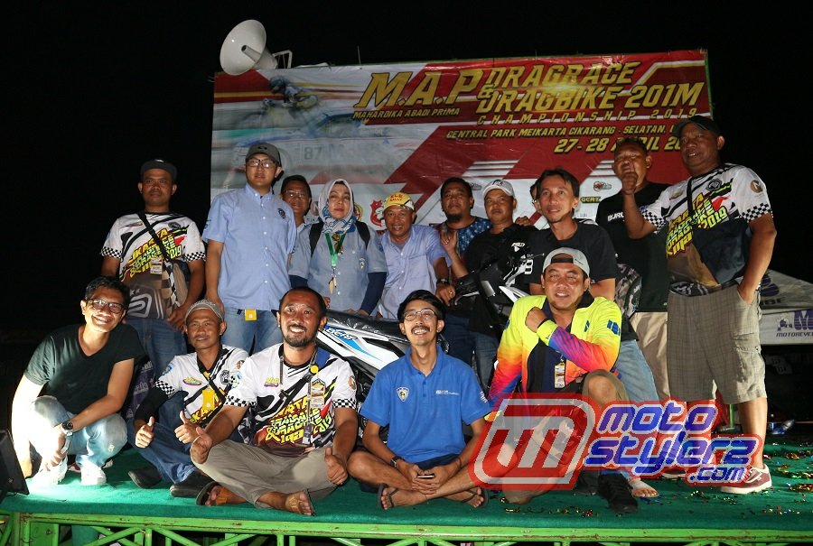 Skuad MAP-Sukses Manjakan Pecinta Drag Race Pulau Jawa