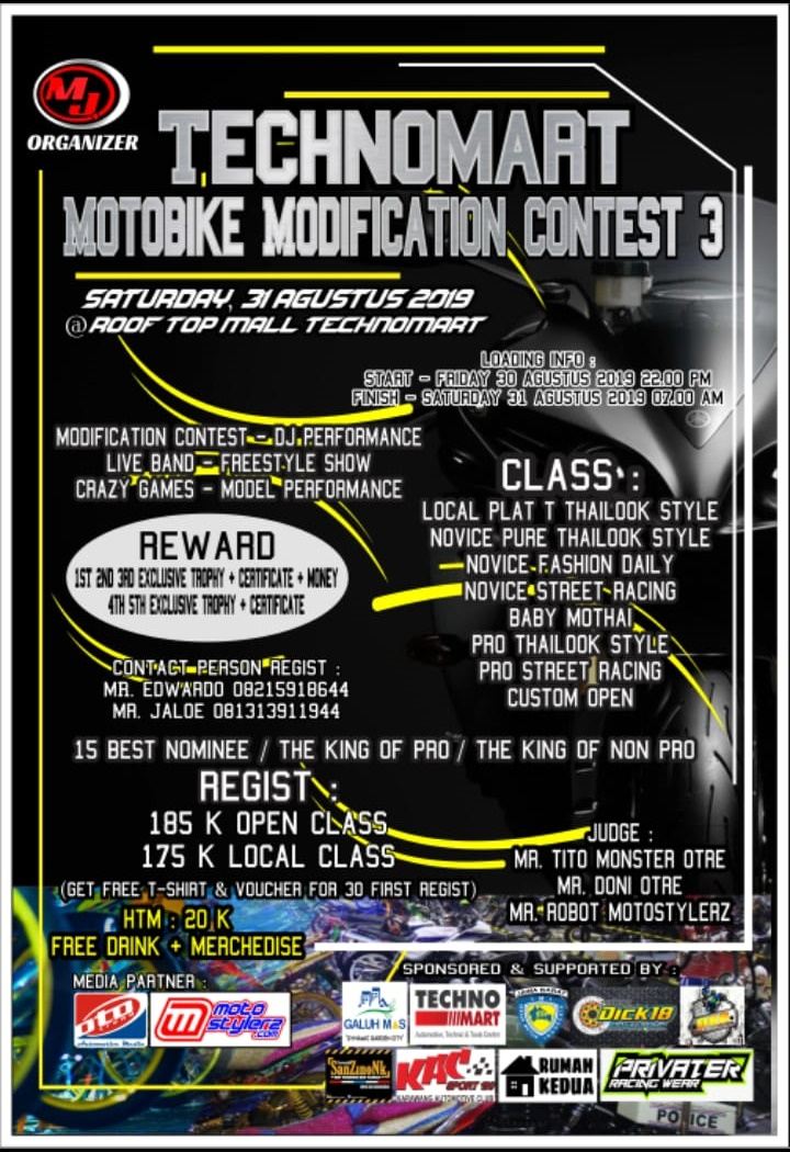 2019 Agustus 30 Technomart Motobike Modification Contest 3 2019 - Karawang
