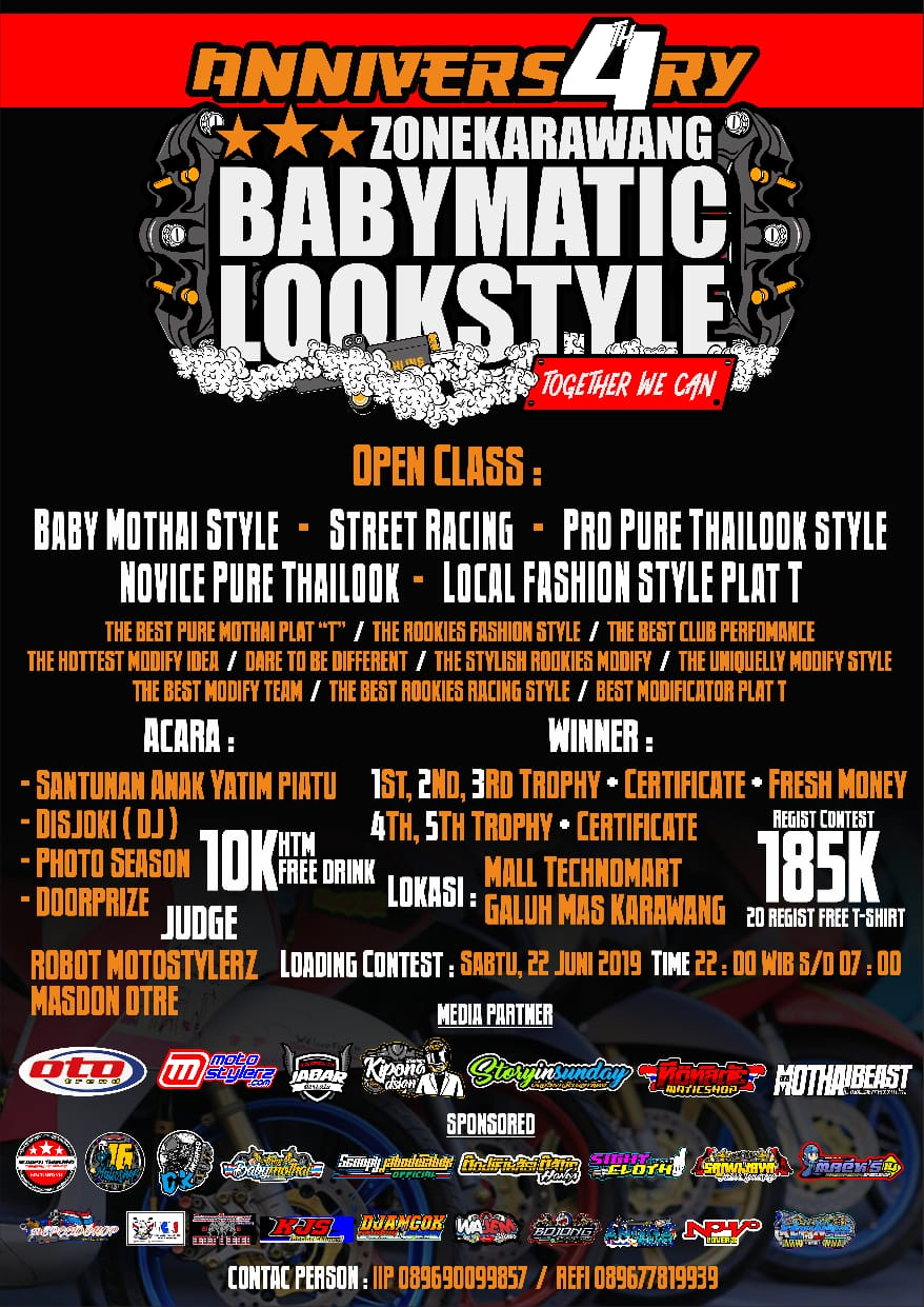 2019 Juni 23 4th Anniversary Baby Matic Look Style Zone Karawang