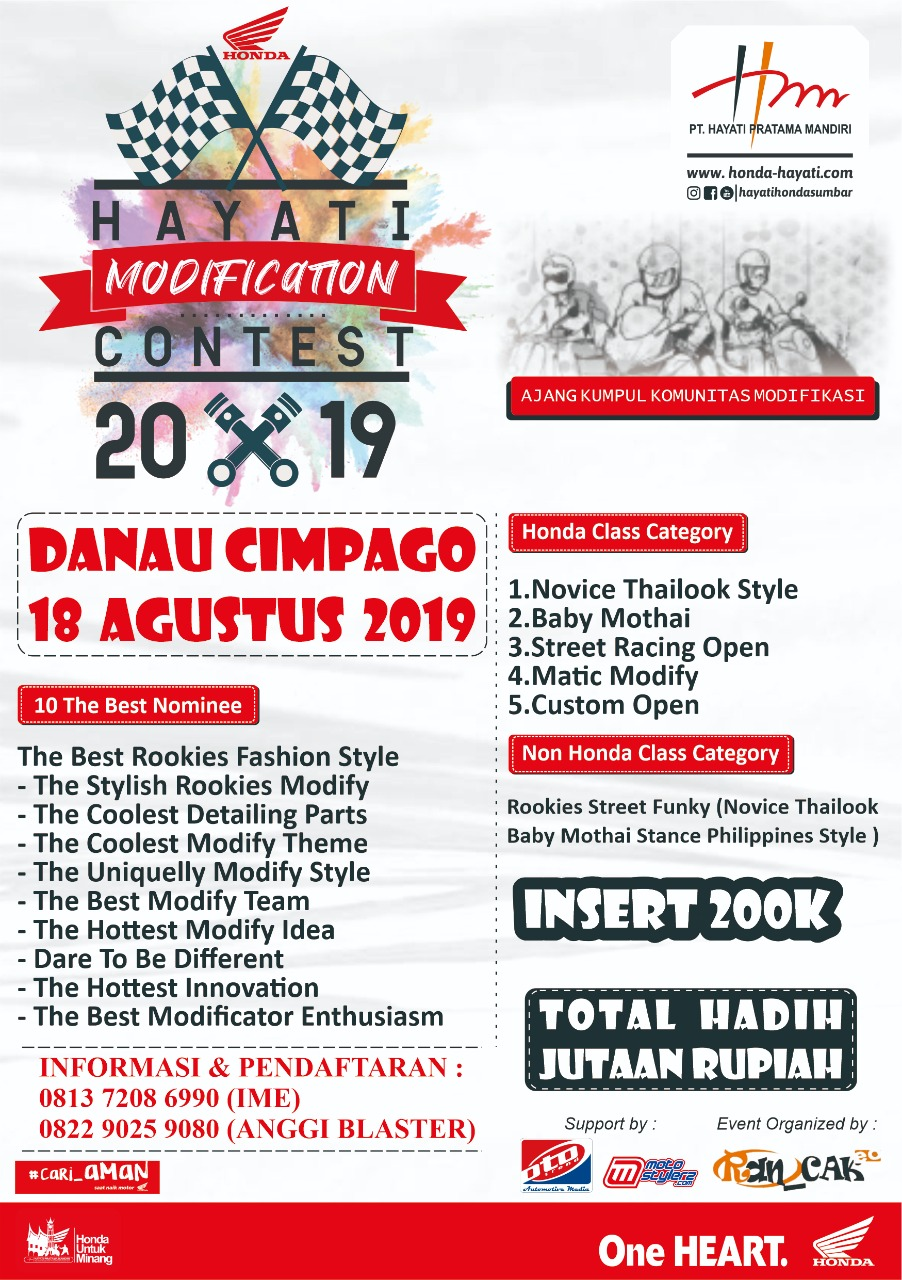 2019 Agustus 18 Hayati Modification Contest 2019 - Padang