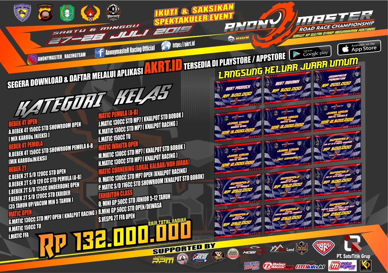 2019 Juli 27-28 Anony Master Road Race Championship Pontianak 2019 1