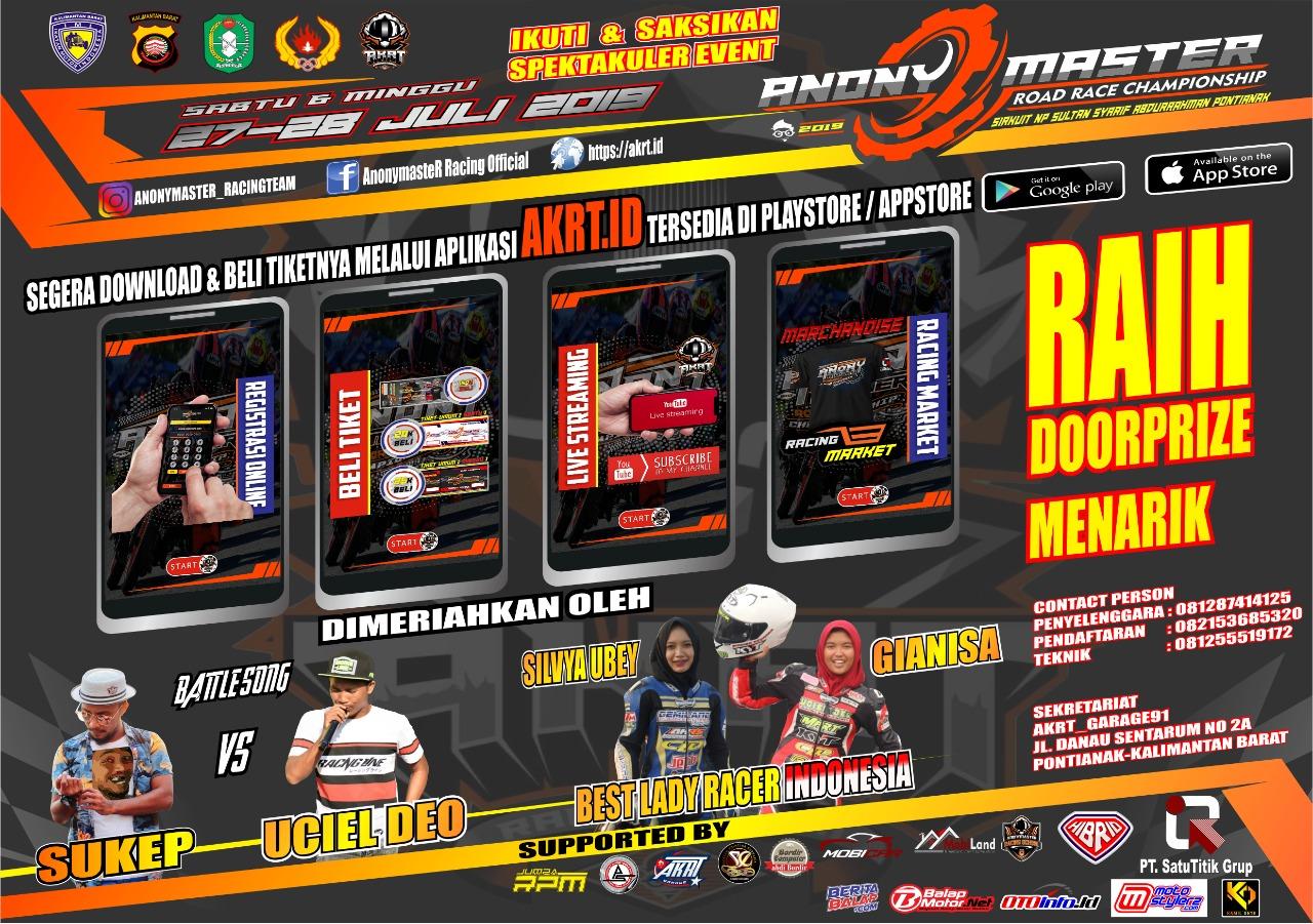 2019 Juli 27-28 Anony Master Road Race Championship Pontianak 2019 2