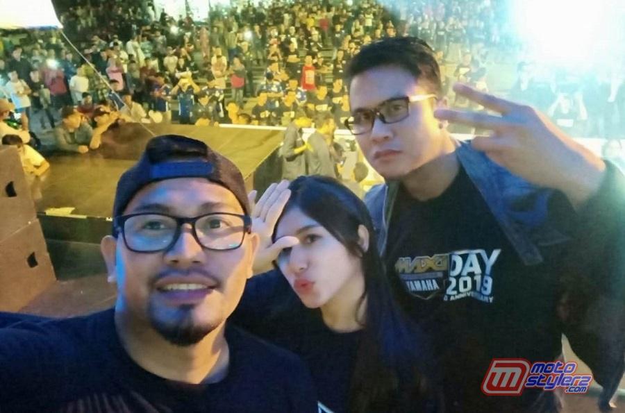 Trio MC Firly Natha, Chika Andalea & Arief Marzuki-Sukses Kawal Gelaran MAXI Yamaha Day Palembang