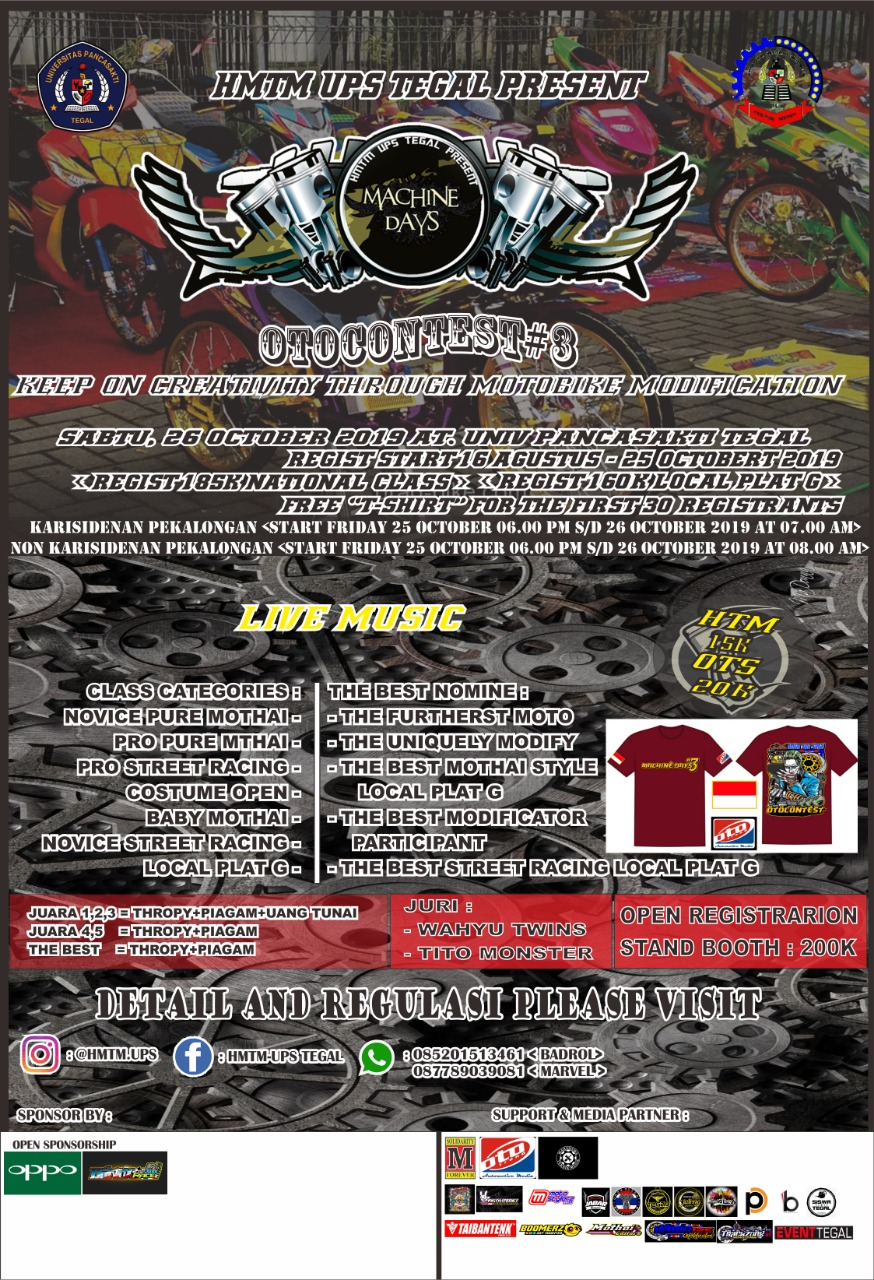 2019 Oktober 26 HMTM UPS Tegal Machine Days Otocontest #3 2019 -Tegal