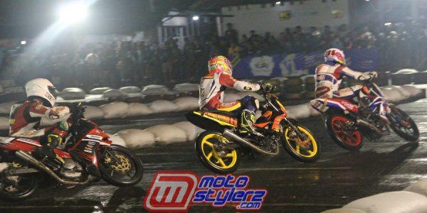 Hendra Axo & Ridwan Fauzan Lincah di Lintasan Basah, Kompak Kuasai Seri 3 Super Adventure Night Road Race (SANRR) Cianjur
