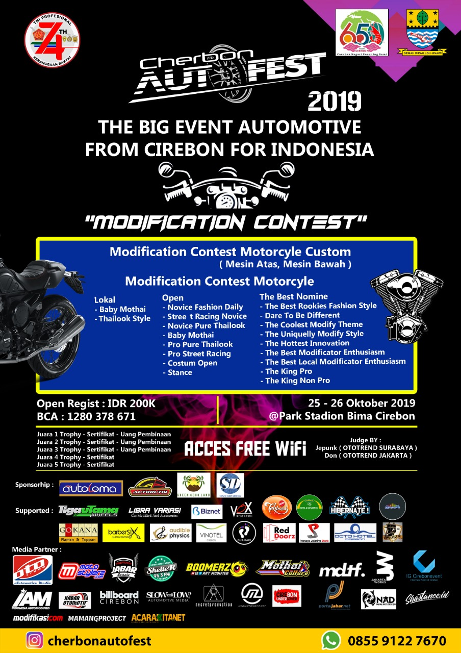 2019 Oktober 25-26 Cherbon Autofest 2019 - The Big Event Automotive From Cirebon For Indonesia 1