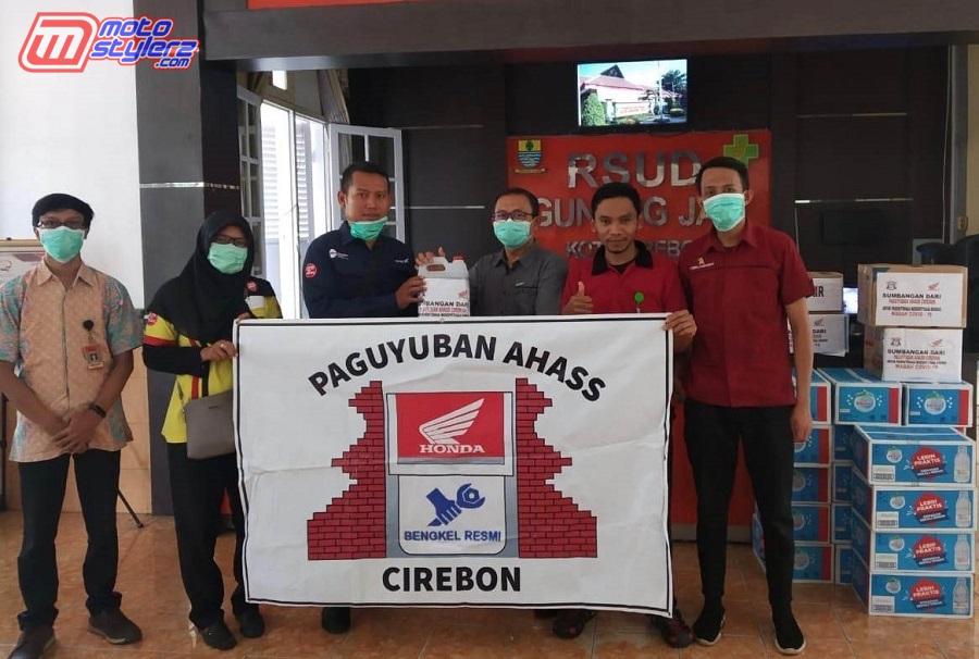 Bantuan Dari Paguyuban AHASS Cirebon Diterima Langsung Management RSUD Gunung Jati Cirebon