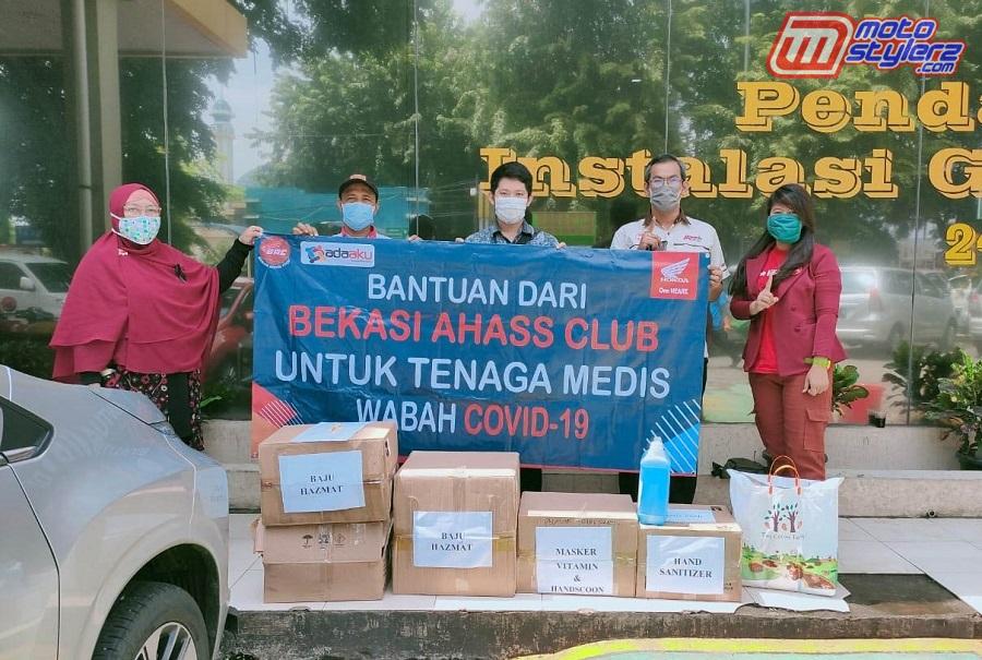 Perwakilan Bekasi AHASS Club Saat Aksi Donasi Ke RSUD Kota Bekasi.