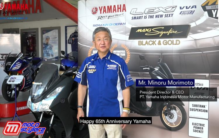 Minoru Morimoto (President Director & CEO PT YIMM-) Menyampaikan Pesan Khusus Ultah Yamaha Di Tahun 2020