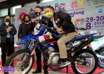 Menpora Zainudin Amali Bersama H. Fachrul Sarman (Ketua Pengprov IMI Jabar)-Siap Dukung Penuh Jabar Open Motocross & Grasstrack 2020