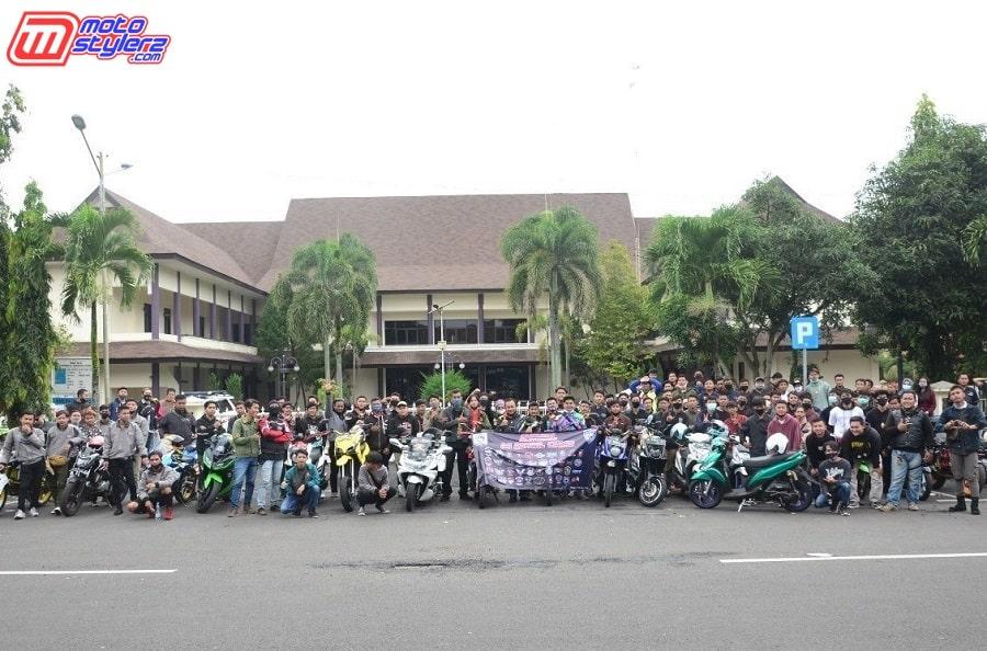 150 Bikers Dari 40 Club Motor Se Ciamis Sukseskan Program Baksos IMI Korwil Ciamis