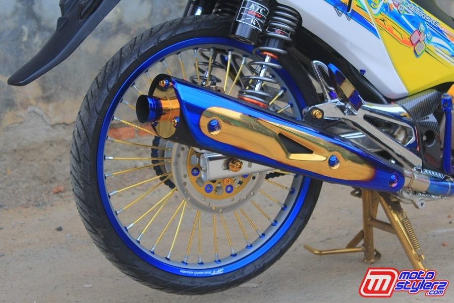 Muffler-Kece Pakai Brand Blue Garage