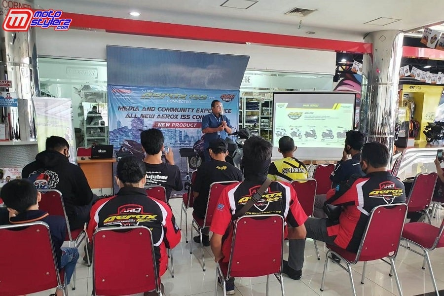 Sesi Pemaparan Product Knowledge All New Aerox 155 Connected-min