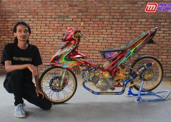 Hari Setiadi (Modifikator Jawara Petshop) Bareng Kreasi Ajib Jupiter MX Racing Style