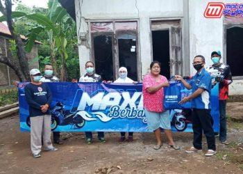 Komunitas MAXI & Yamaha Mandiri-Salurkan Bantuan Kepada Korban Banjir Nganjuk