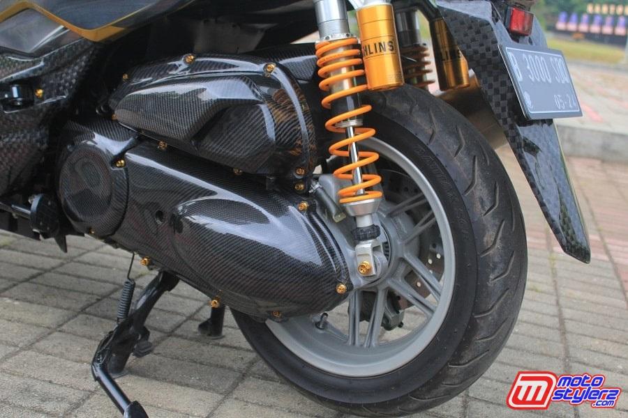 CVT-Full Upgrade Malossi, Suspensinya Comot Ohlins