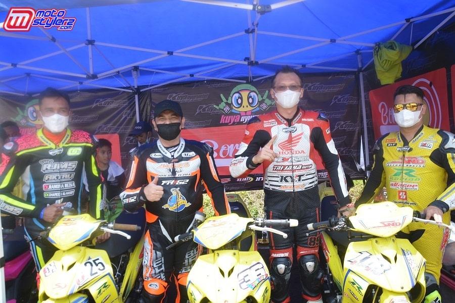 Irvan Octavian, Asep Hendro, Rudy Trijaya & Sandi Agung-Rayakan 3rd Anniversary Exrider Jawa Barat