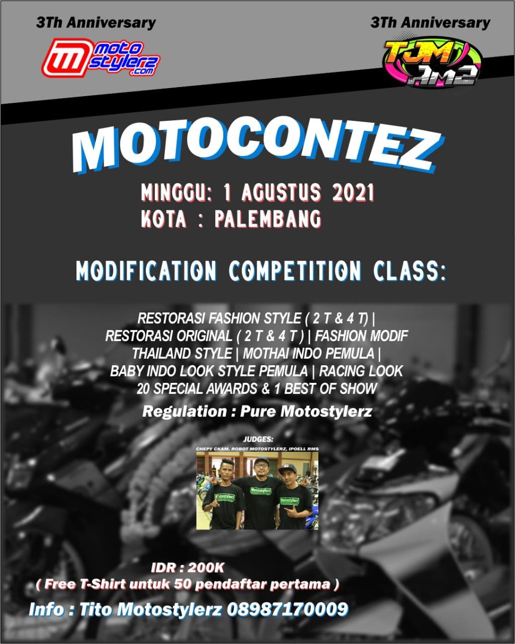 3rd Anniversary Motostylerz Motocontez 2021 - Palembang